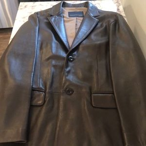 Kenneth Cole Suits & Blazers - Mens leather sports coat